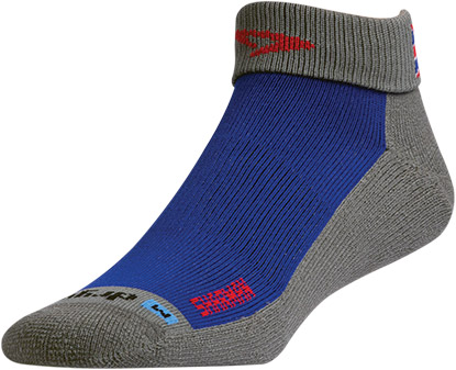 Blue/Anthracite SHARMAN Sock 1/4 Crew Turn Down